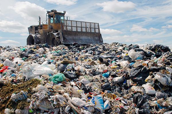 landfill-with-a-bulldozer